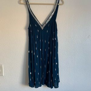 FREE PEOPLE Teal Sequin Dress, size S